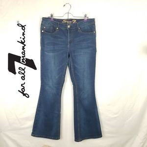 7 For All Mankind Flare Jean's Sz 14